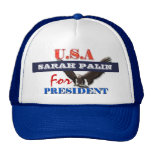 Sarah Palin president 2012 CUSTOMIZE Trucker Hats