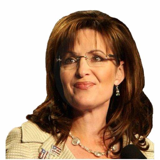 Sarah Palin que mira a la su derecha Fotoescultura Vertical