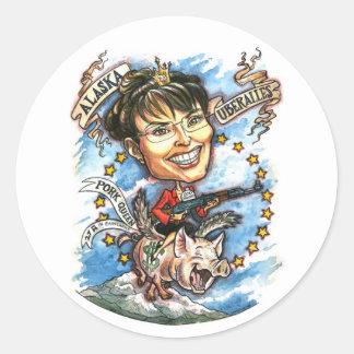 Sarah Palin, Queen of Pork Classic Round Sticker