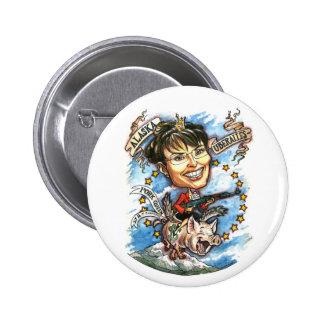 Sarah Palin, Queen of Pork Pinback Button