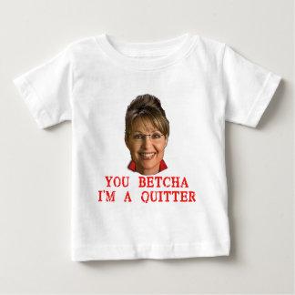 Sarah Palin Quitter T-shirts, Buttons, Mugs Baby T-Shirt