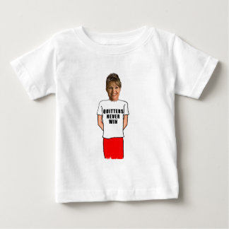 Sarah Palin Quitters Never Win T shirt