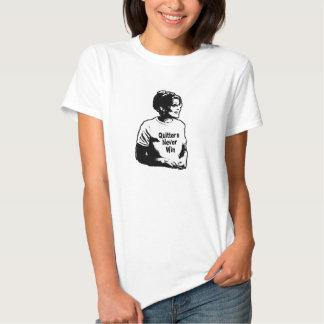 Sarah Palin Quitters Never Win Womens T-Shirt