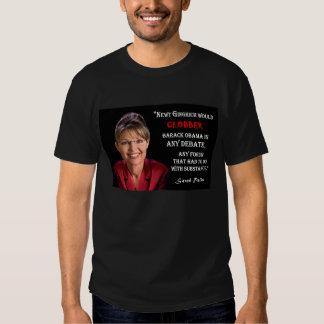 Sarah Palin Quote - Clobber Obama Tee Shirt