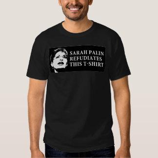 SARAH PALIN REFUDIATES ESTA CAMISETA 2 PLAYERA