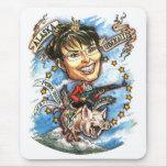 Sarah Palin, reina del cerdo Alfombrillas De Ratones