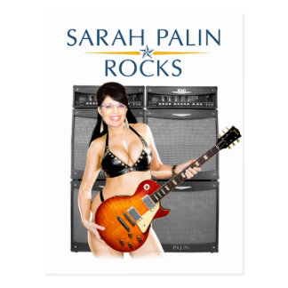 Sarah Palin Rocks Postcard