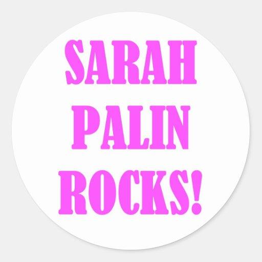 Sarah Palin Rocks Tees Classic Round Sticker