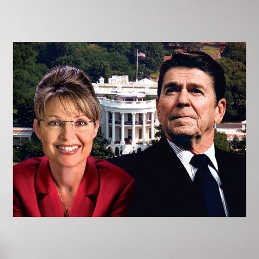 Sarah Palin, Ronald Reagan, y Casa Blanca Posters
