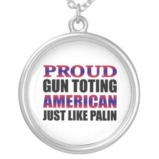 Sarah Palin Round Pendant Necklace