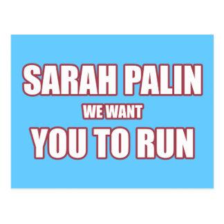 Sarah Palin Run 2012 Postcard