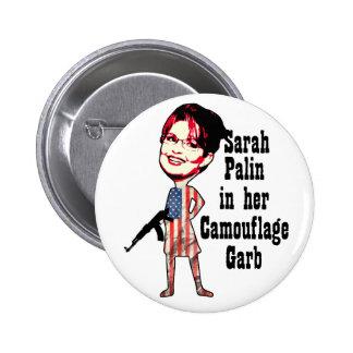 Sarah Palin's Camouflage 2 Inch Round Button