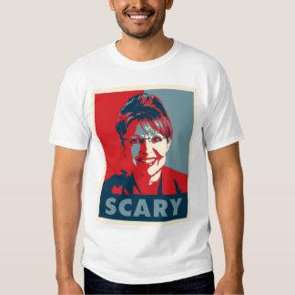 """Sarah Palin """"SCARY"""" t shirt"""