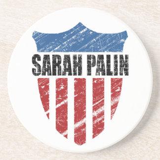 Sarah Palin Shield Beverage Coaster