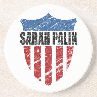 Sarah Palin Shield Coasters