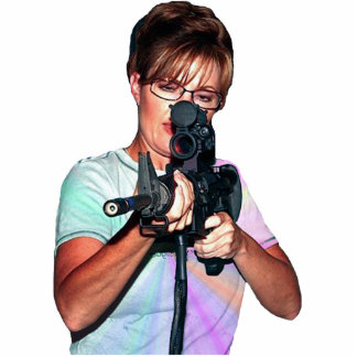 Sarah Palin Shooting To Her Right Statuette