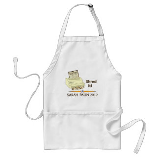 Sarah Palin SHRED THE CONSTITUTION Adult Apron