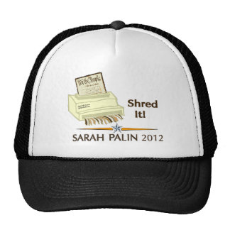 Sarah Palin SHRED THE CONSTITUTION Trucker Hat