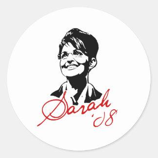 Sarah Palin Signature Tee Classic Round Sticker