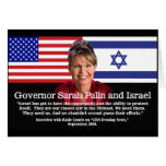 Sarah Palin Speaks About Israel Greeting Cards
