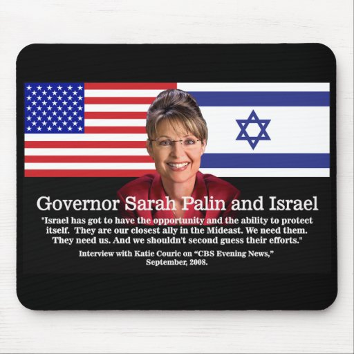 Sarah Palin Speaks About Israel Mouse Pads
