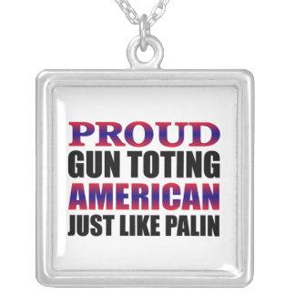 Sarah Palin Square Pendant Necklace