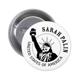 Sarah Palin Statue of Liberty Button