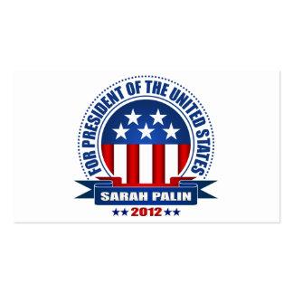 Sarah Palin Plantillas De Tarjetas De Visita