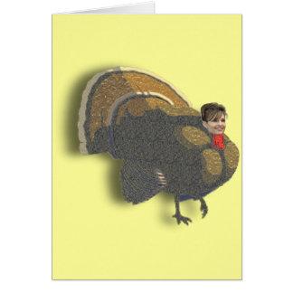 Sarah Palin Thanksgiving Greeting Card