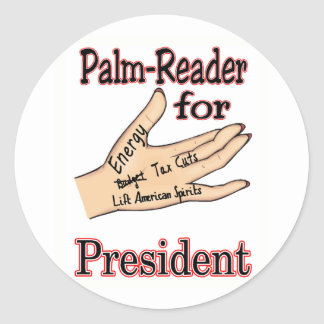 Sarah Palin The Palm Reader Classic Round Sticker