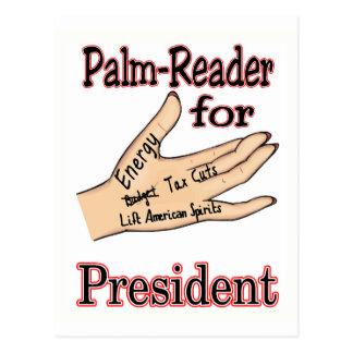 Sarah Palin The Palm Reader Postcard