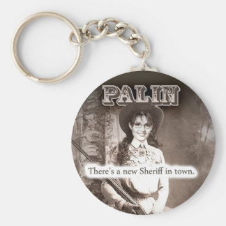 Sarah Palin, There's a new Sheriff in town. Basic Round Button Keychain
