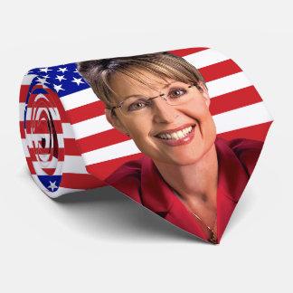 Sarah Palin & U.S. Flag Neck Tie