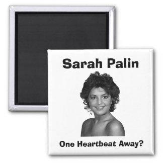 Sarah Palin:  ¿Un latido del corazón ausente? Imán Cuadrado
