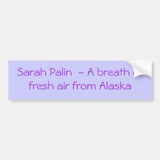 Sarah Palin una pegatina para el parachoques del r Pegatina Para Auto