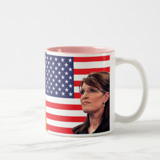 Sarah Palin - US Flag Eagle Mugs