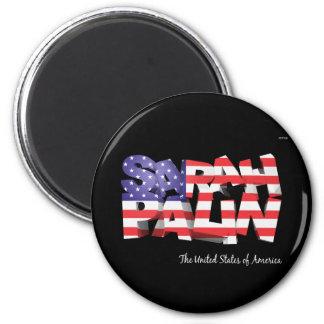 Sarah Palin USA 2 Inch Round Magnet