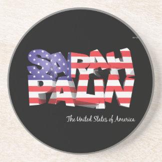 Sarah Palin USA Drink Coaster