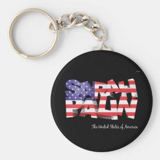 Sarah Palin USA Keychain