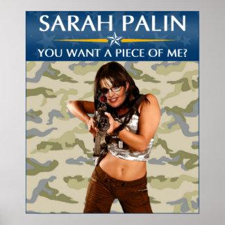 ¿Sarah Palin - usted quiere a un pedazo de mí? Pos Póster