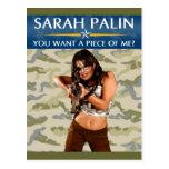 ¿Sarah Palin - usted quiere a un pedazo de mí? Pos Postales