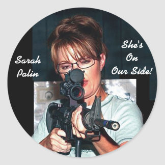 Sarah Palin w/Rifle Round Stickers