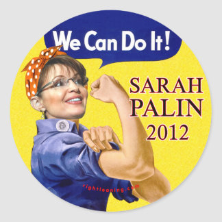Sarah Palin We Can Do It Classic Round Sticker