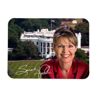 Sarah Palin, White House & Sig Rectangular Photo Magnet