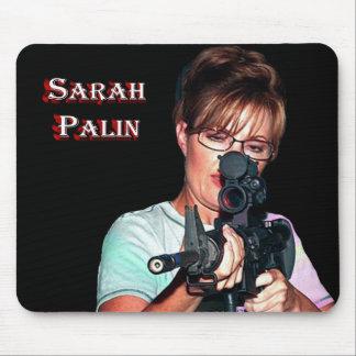 Sarah Palin With Rifle Mouse Pad