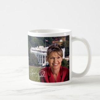 Sarah Palin y Casa Blanca Tazas De Café