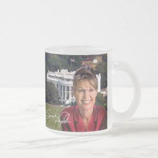 Sarah Palin y Casa Blanca Taza