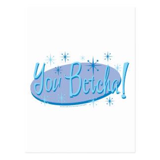 Sarah Palin You Betcha! Postcard