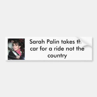 sarah_palinride bumber sticker, Sarah Palin tak... Car Bumper Sticker