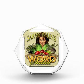 Sarah Palin's WORD Salad Acrylic Award